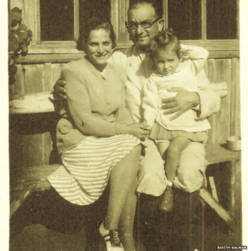 Gustav Weinberger with wife Mancika and toddler Eva Edit